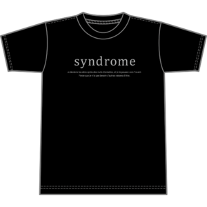 """syndrome"" ツアー T-shirt"