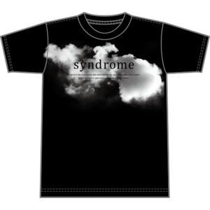 """syndrome"" 雲  T-shirt"
