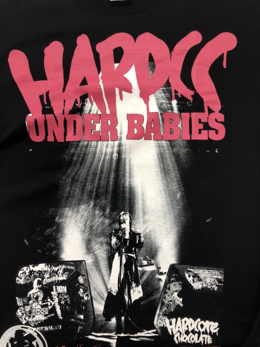 UNDER BABIES×ハードコアチョコレート コラボTシャツ(ピンク/グレー)